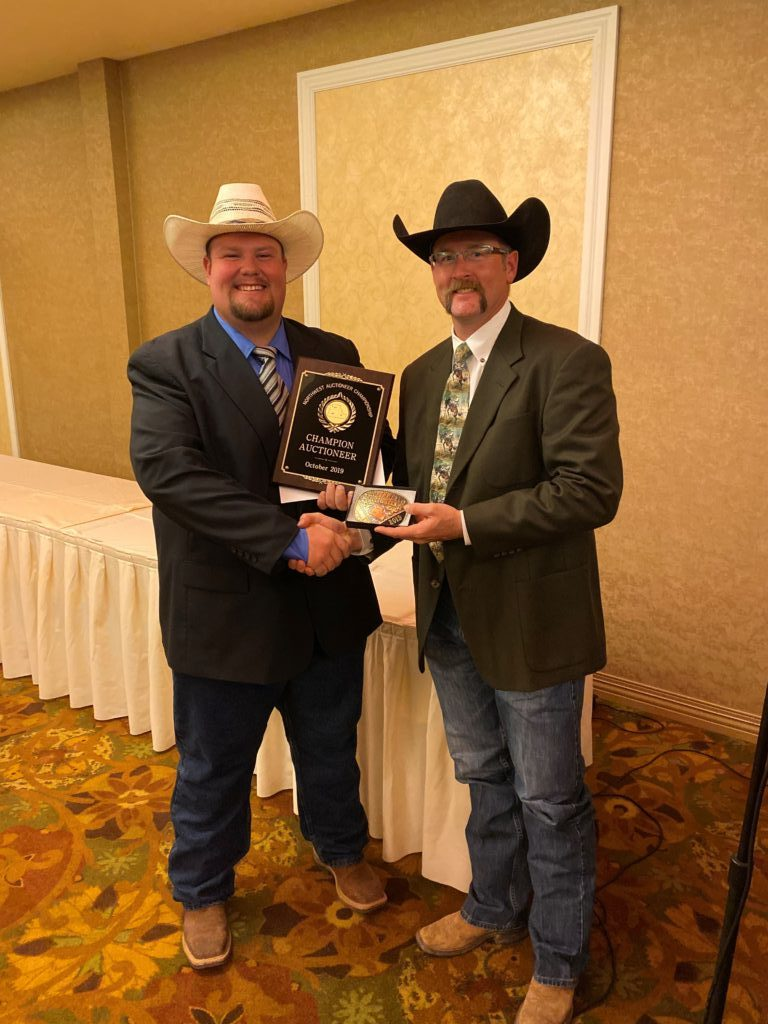 2019 Auction Champ Jack Riggs with 2018 Champ Josh Linebaugh